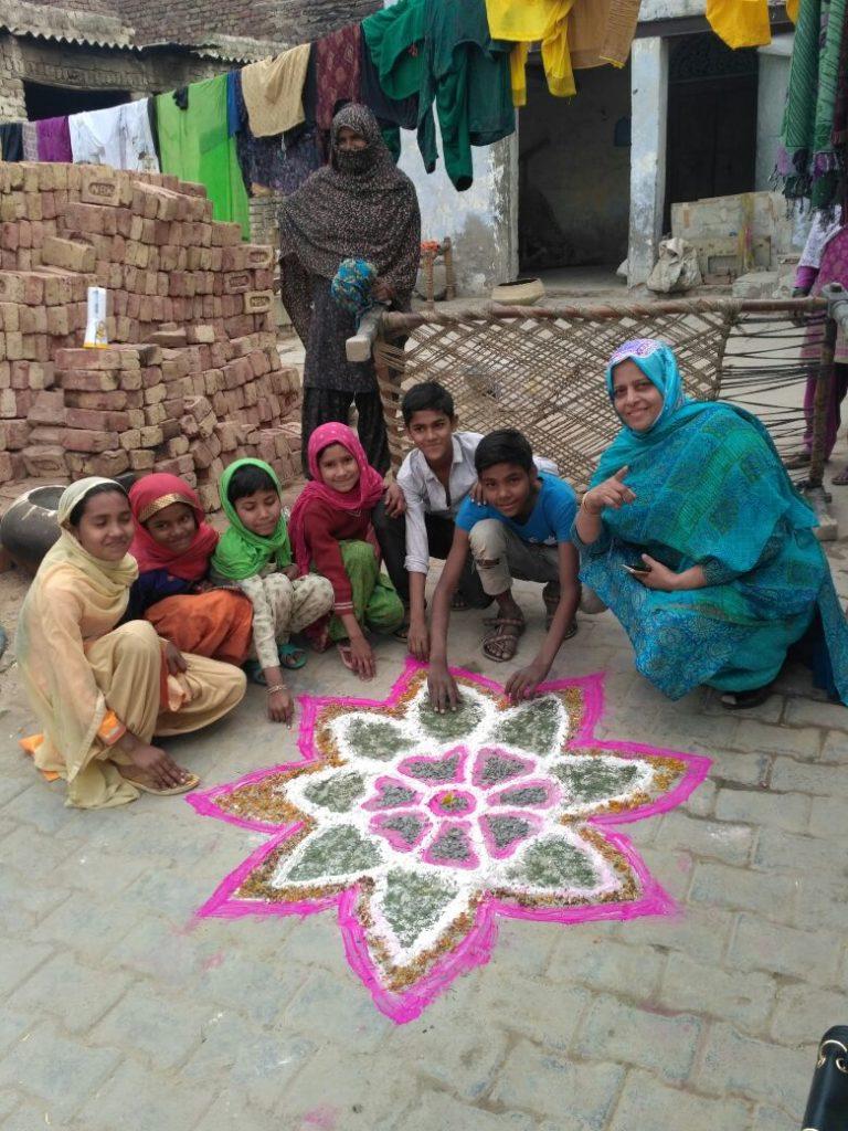 Rangoli in village community