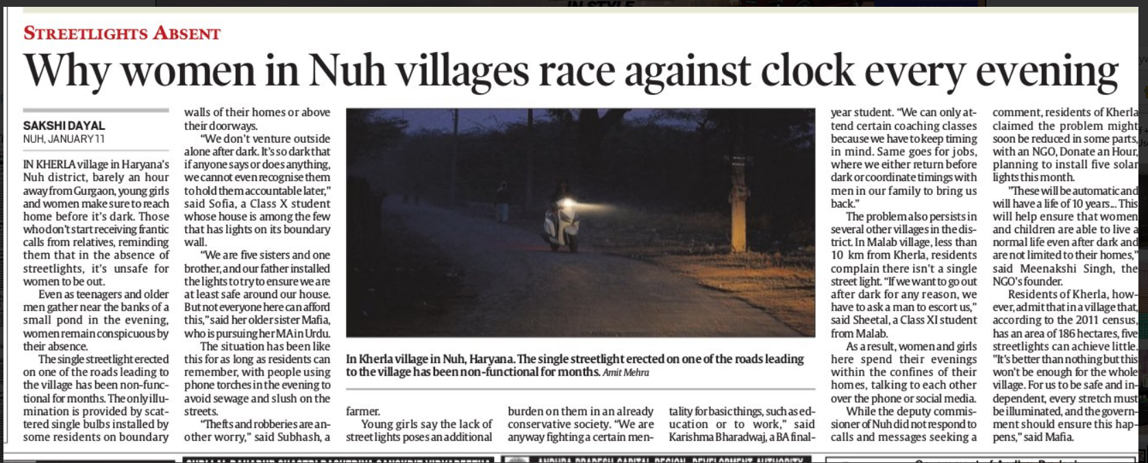 Indian Express _Kherla Light